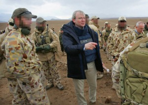 Mr Rudd in Afghanistan. Photo: Gary Ramage: The Age